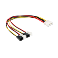 Delock Cable power Molex 4 pin male > 4 x 2 pin fan