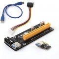 PCI-E 1x to 16x Powered USB 3.0 Extender Riser Adapter Card Bitcoin ethereum